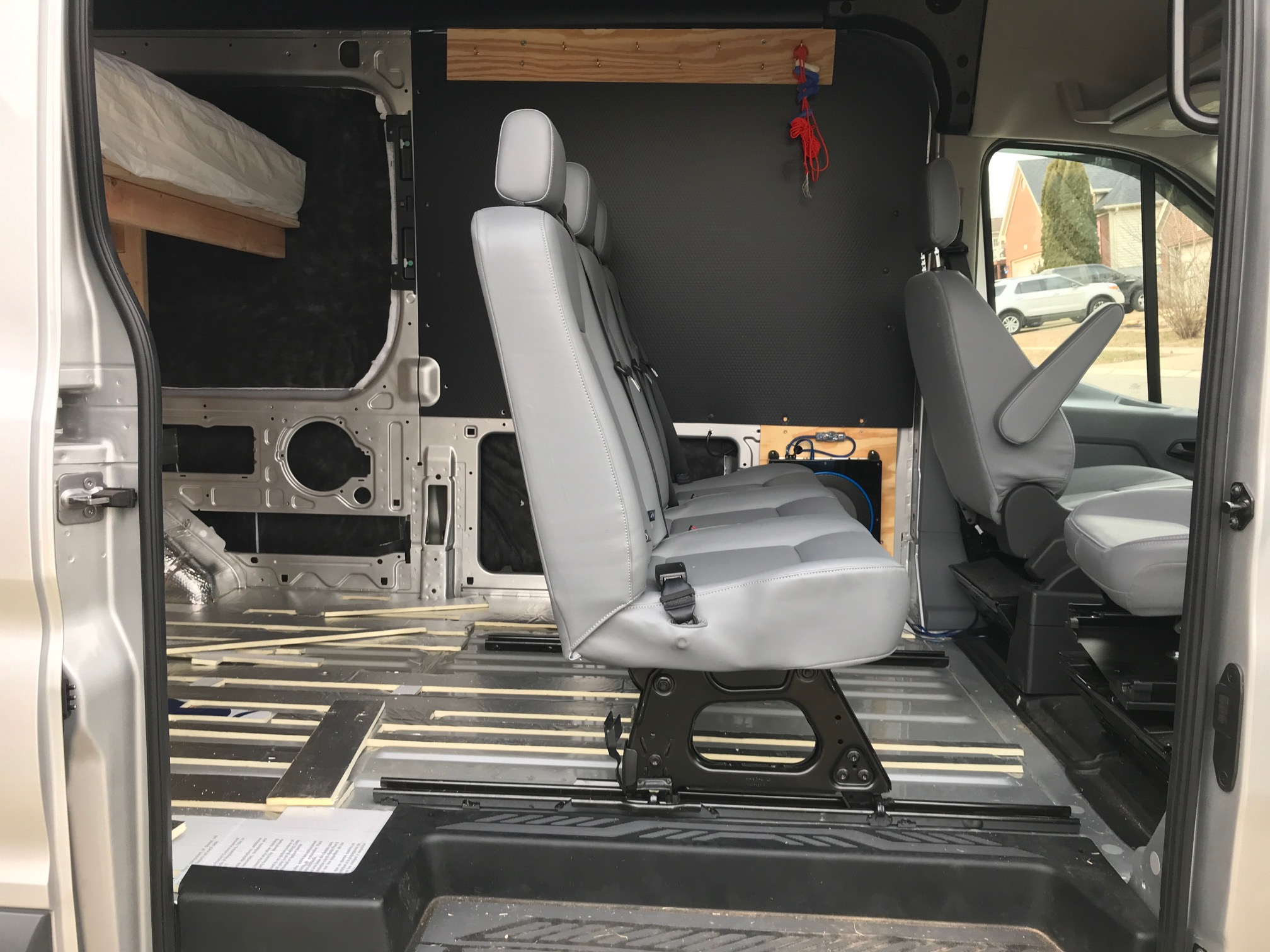 Van Conversion Installing 2nd Row Bench Seat In Ford Transit