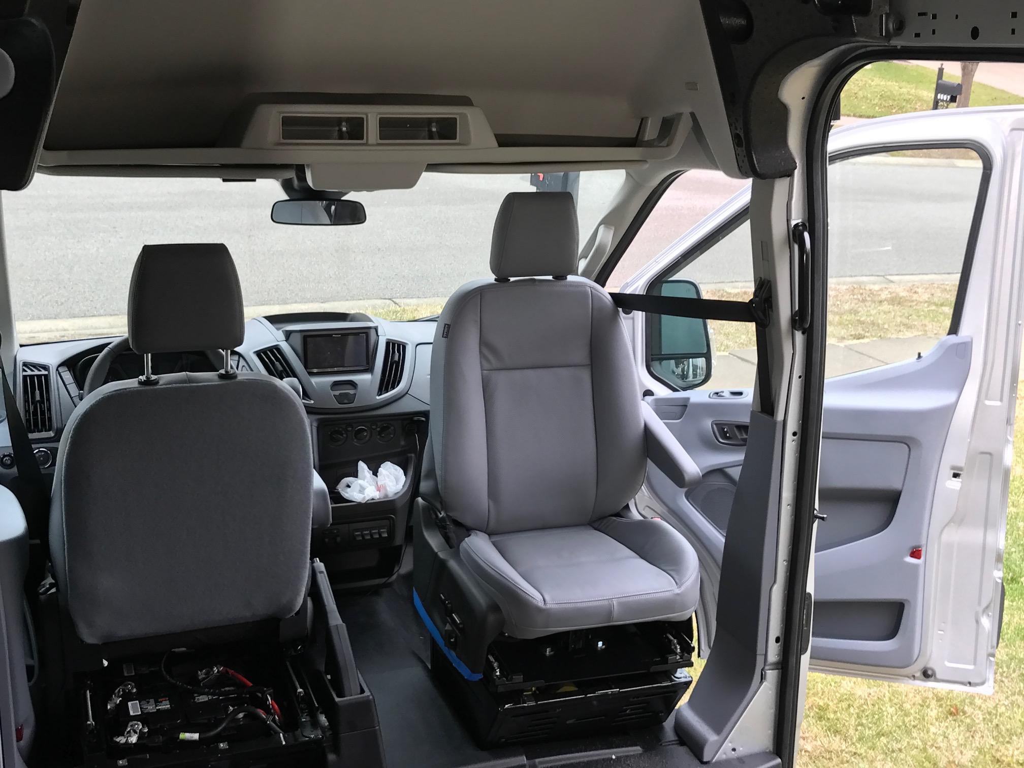 Van Conversion Install Seat Swivel In Ford Transit